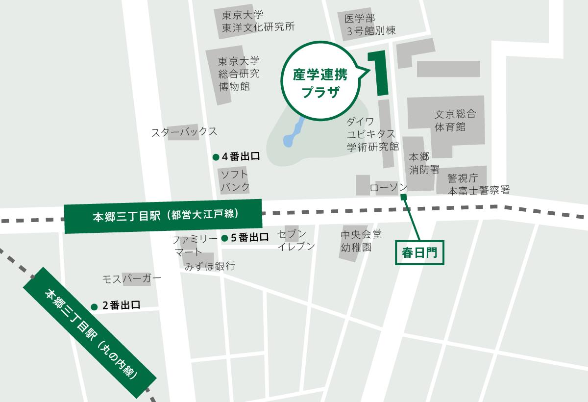 地図:本郷キャンパス 拡大地図